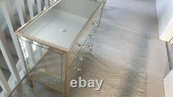 Mirrored glass dressing table and 2 chest of drawers