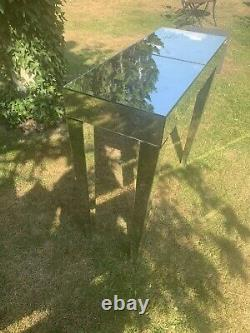 Modern Glass Console Table Venetian Mirrored Dressing Silver Hallway Furniture
