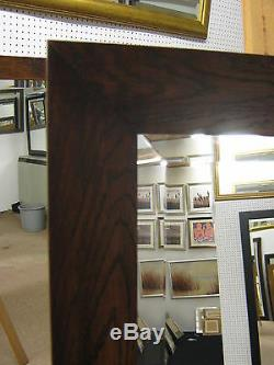 New 4 Flat Modern Dark Mahogany Solid Oak Long And Full Length Dressing Mirrors