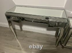 Next Mirrored Dressing Table And Bedside Tables