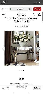 Oka Versailles Dressing Side Table Mirrored Glass