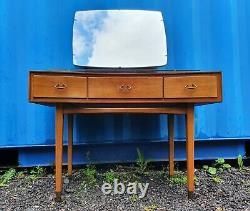 RETRO Mid Century WRIGHTON compact dressing table + mirror + glass shelf