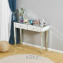 Table Dresser Bedroom Furniture Beautify Mirrored Dressing Table Console Corner