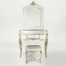 The Argente Mirrored dressing table set inc mirror and stool