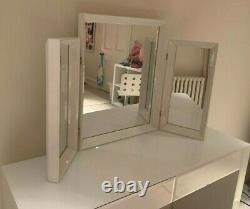 The White Company Carlton White Dressing Table Mirror