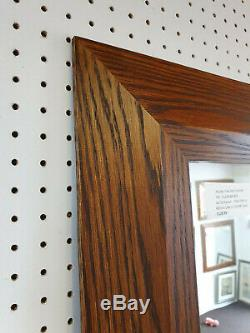 Trade Priced-shaped Walnut Stained Solid Oak Long & Full Length Dressing Mirrors
