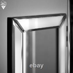 Tri Fold Desktop Vanity Mirror Bevelled Glass Design Makeup Dressing Silver