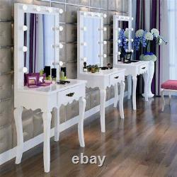Vanity Makeup Dressing Table Set Hollywood Illuminated Mirror Theatre Hair Salon
