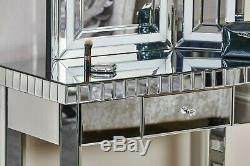 Venetian Glass Mirrored Table Modern Furniture Hall Console Side Stand Dressing