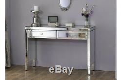 Venetian Mirrored Dressing Table / Console Hallway / Mirror Finish Furniture