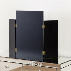 Venetian Mirrored Dressing Table with Tri-Sided Mirror Bedroom VEN66-VEN39
