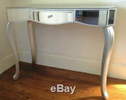 Venice mirrored glass one drawer console dressing table width 97cm