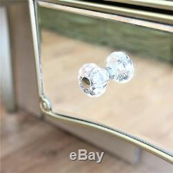 Vintage Dressing Table Venetian Mirrored Furniture Antique Silver Glass Drawers