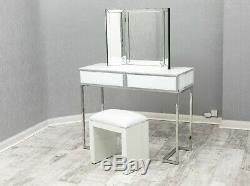 White Mirrored Dressing Table