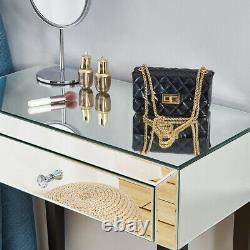 1 Tiroir Miroir Dressing Table Vanity Dresser Console Meubles Chambre À Coucher