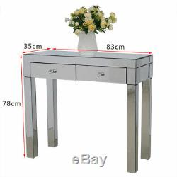 2 Tiroirs En Verre Coiffeuse Set / 3 Tiroirs Tables De Chevet Armoire De Toilette