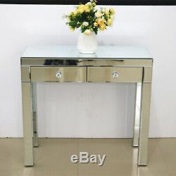 2drawers Dresser Mirrored Coiffeuse High Gloss Console Maquillage Table Vanity