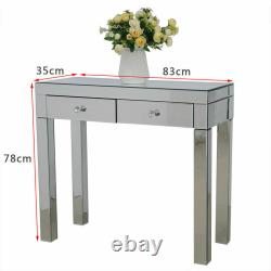 2drawers Dresser Mirrored Dressing Table Haute Console Gloss Maquillage Vanity Table
