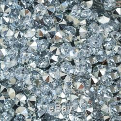 3piece Diamant Crushed Cristal Mirrored Coiffeuse Ensemble Vénitien Vanity Tabouret