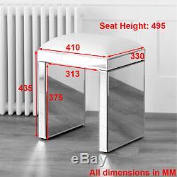 50 De Style 2 Tiroirs Angled Coiffeuse Et Blanc Ven25-bedroom- Tabouret Ven05w