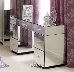 7 Tiroir Miroir Dressing Table Argent Meubles De Chambre Vénitienne