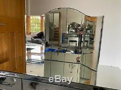 7 Tiroirs Table Mirrored Dressing Vanity Miroir Mobilier Moderne Avec Tabouret