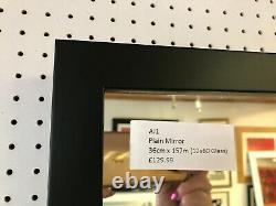 Acheter Direct-modern Flat Black Long And Full Length Wall Hanging Dressing Mirror