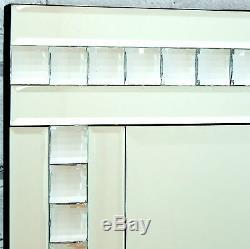 Alma Argent Verre Cristal Cheval Robe Autoportant Étage Miroir 16x60 X Large