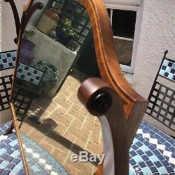 Antique Géorgien Balancez Miroir / Miroir Coiffeuse Mercury Verre, Croix Banding