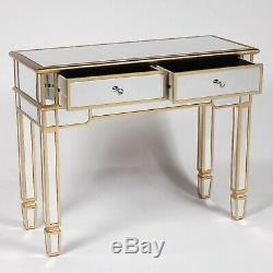 Antique Gold Gilt Vénitien En Verre Mirrored Console Dressing Salle Table D'appoint