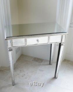 Antique Miroir 2 Console De Tiroir, 2 Coiffeuse Salle De Tiroir