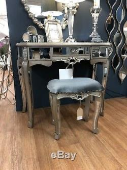 Argente Mirrored Coiffeuse Tabouret