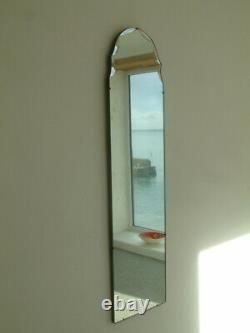 Belle Vintage Art Déco Bevelled Edge Full Length Wall Mirror Dressing