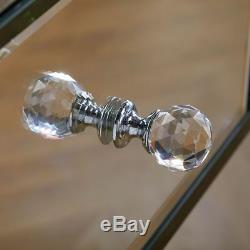 Birlea Palermo 4 Tiroirs Mirrored Coiffeuse Miroir Biseautées Poignée Cristal