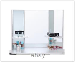 Blanc Coin Coiffeuse Femme Make Up Unité Miroir Chambre Commode Bureau
