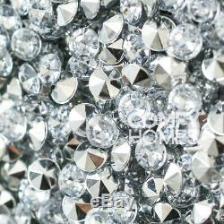 Blanc Mirrored Crushed Cristal 7 Tiroirs Coiffeuse Exclusif