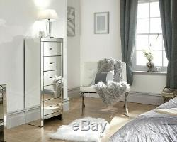 Boudoir Chambre Gamme Mirrored Chevets Commodes Tallboy Coiffeuse
