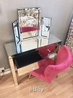 Brand New Vénitien En Verre Mirrored Coiffeuse