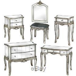 Chambre Miroir Coiffeuse Console Table De Chevet Commode Verre Français