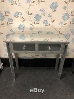 Champagne Garniture Verre Mirror 2 Console Tiroir Table Coiffeuse