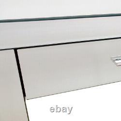 Charles Bentley Mirrored Glass Hallway Furniture 2 Tiroir Dressing Console Table