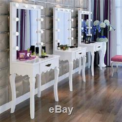 Coiffeuse En Bois Hd Beauté Station Miroir De Maquillage Table Tiroir Miroir