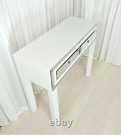 Coiffeuse Juliette Premium Plus Verre Mirrored Vanity Table Console Bureau
