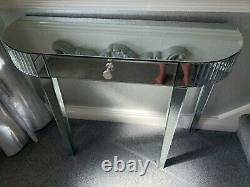Coiffeuse Miroir / Table De Console Avec Tirage