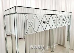 Coiffeuse Romano Premium Plus Verre Mirrored Vanity Table Console Bureau