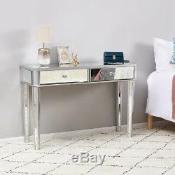 Coiffeuse Vanity Mirrored Dresser Console Bureau De Maquillage Chambre