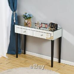 Coiffeuse Vanity Mirrored Dresser Console Chambre Miroir Bureau Maquillage