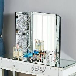 Coiffeuse Vanity Mirrored Dresser Console Chambre Tabouret Miroir Nouveau