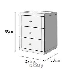 Commode Mirrored Chevet Accueil Cabinet Coiffeuse Chambre Meubles