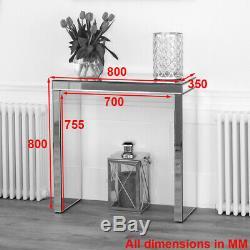 Console De Venise Mirrored Compact Table Salle Téléphone Dressing Ven38 Côté